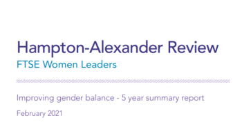 FTSE Women Leaders - Hampton Alexander Report 2020